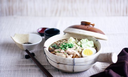 Shoyu ramen con pollo